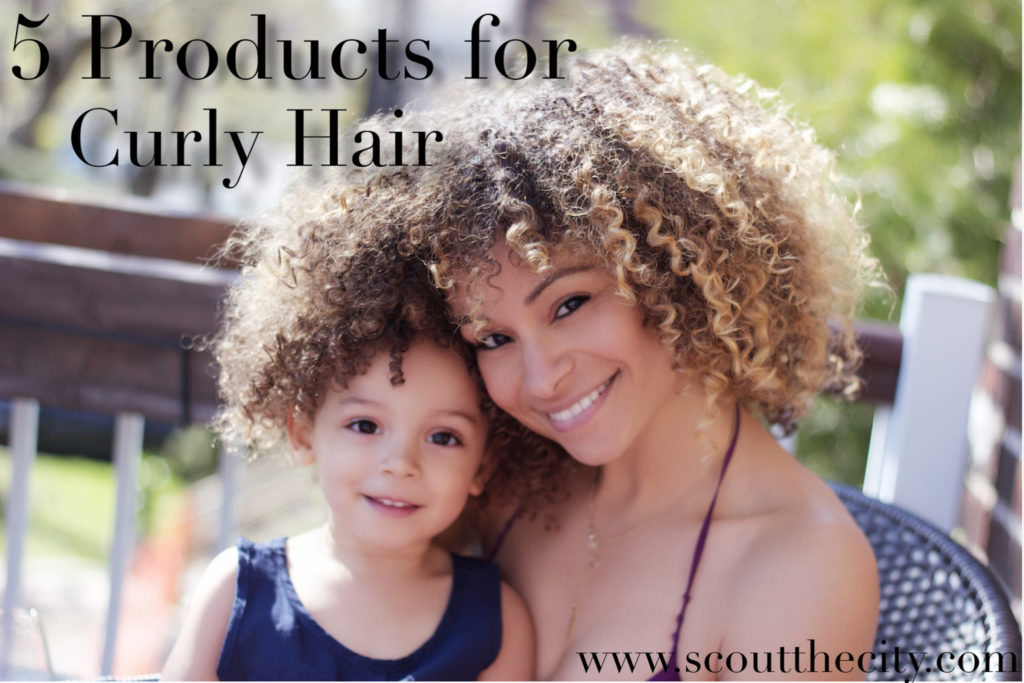 5 products for taming Curly Hair for kids.