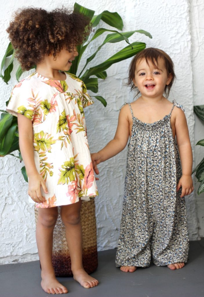 a boho collection of fashion forward clothing for babies, toddlers and kids