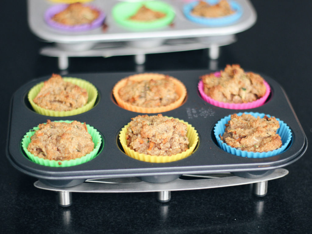 carrot and zucchini muffins made by kids
