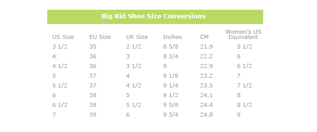 What Size Shoe Do I Wear In Youth